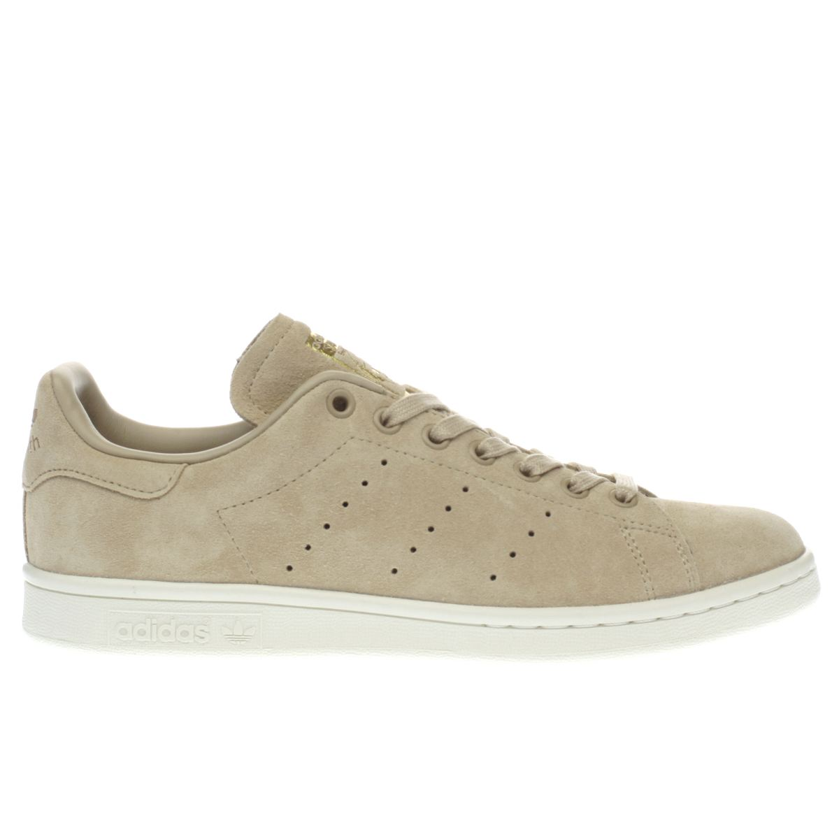 adidas beige stan smith suede trainers