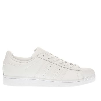 Mens Adidas White Superstar Foundation Trainers