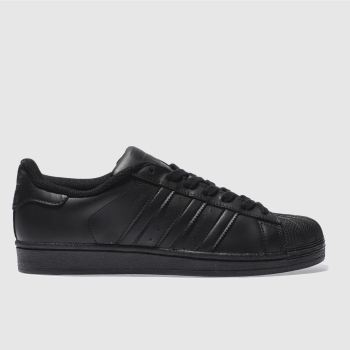 Mens Adidas Black Superstar Foundation Trainers
