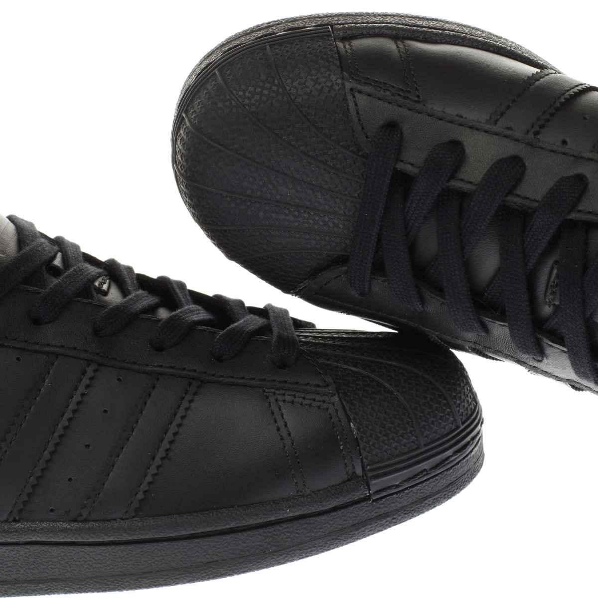 mens adidas black trainers