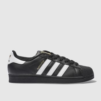Adidas Black & White Superstar Foundation Mens Trainers