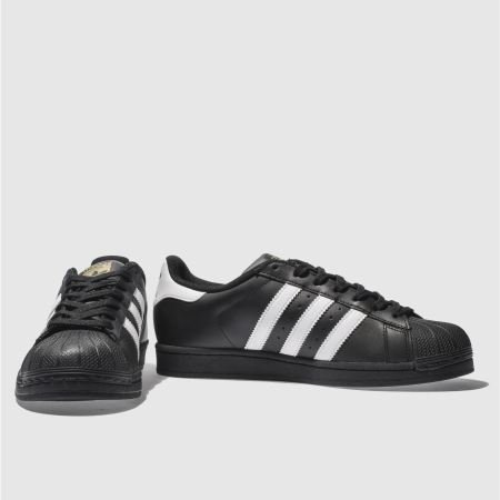 Adidas Unisex Superstar Sneakers in Black and White Glue Store