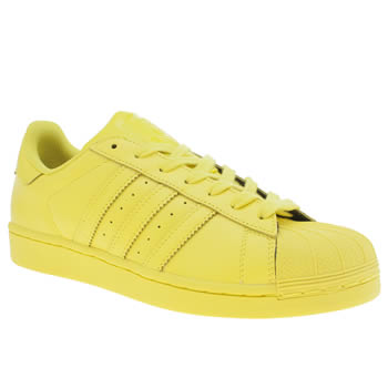Mens Adidas Yellow Superstar Supercolor Trainers