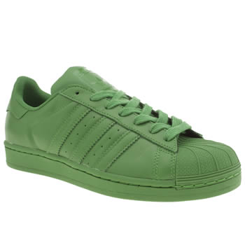 Mens Adidas Green Superstar Supercolor Trainers