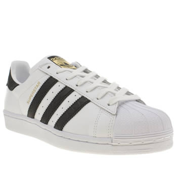 Mens Adidas White & Black Superstar East River Rival Trainers