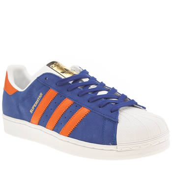 Mens Adidas Blue Superstar East River Rival Trainers