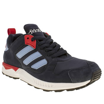 Mens Adidas Navy & Pl Blue Zx 5000 Response Trainers