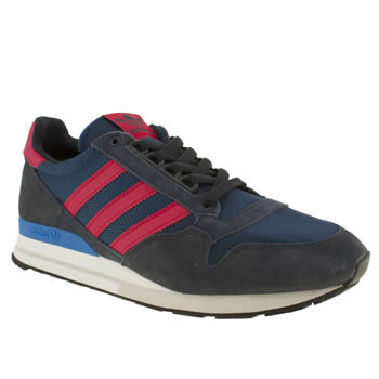mens adidas navy & red zx 500 original trainers