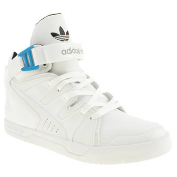 mens adidas white & black mc-x1 trainers