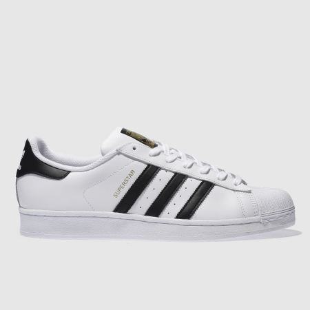 Adidas White Black Superstar
