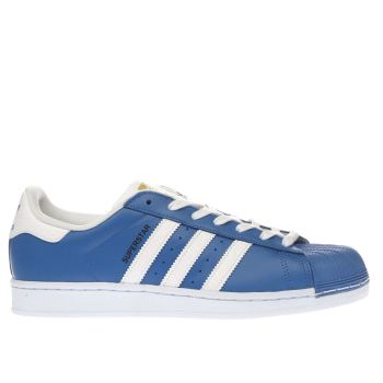 Adidas Blue Superstar Trainers