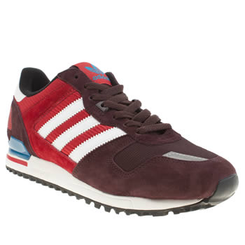 Mens Adidas Burgundy Zx 700 Trainers