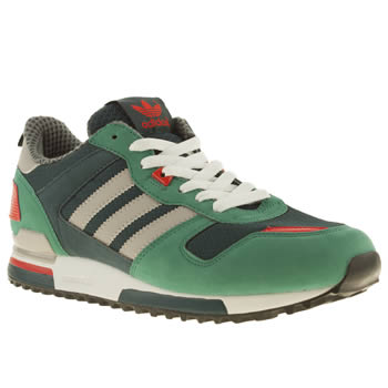 mens adidas navy & green zx 700 trainers