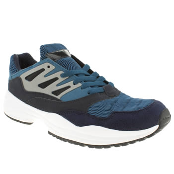 mens adidas navy & grey torsion allegra trainers