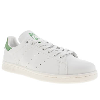 Mens Adidas White & Green Stan Smith Trainers