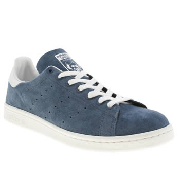 mens adidas blue stan smith trainers