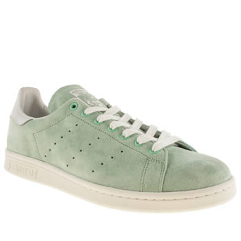 Mens Adidas Light Green Stan Smith Trainers