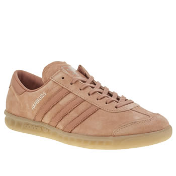 Adidas Pink Hamburg Mens Trainers
