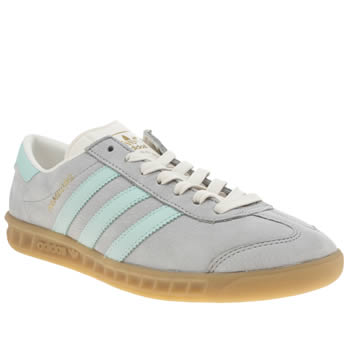 Mens Adidas Pale Blue Hamburg Trainers