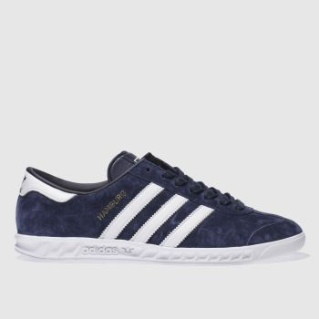 Adidas Navy & White Hamburg Trainers