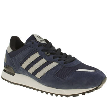 Adidas Black and blue Zx 700 Trainers