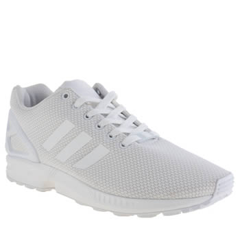 Mens Adidas White Zx Flux Weave Trainers