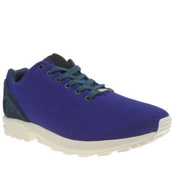 Mens Adidas Blue Zx Flux Weave Trainers