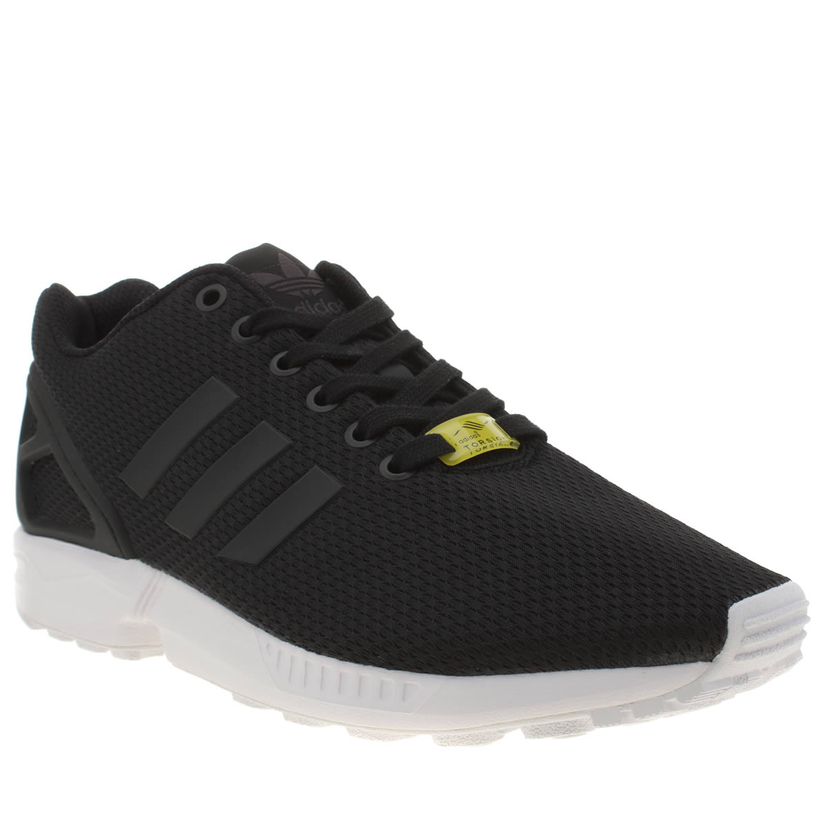 adidas black zx flux weave trainers