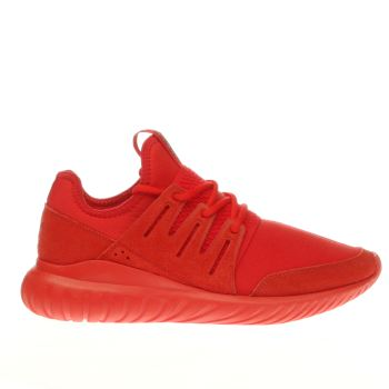 Adidas Red Tubular Radial Trainers
