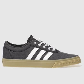 mens adidas black & white adi ease trainers