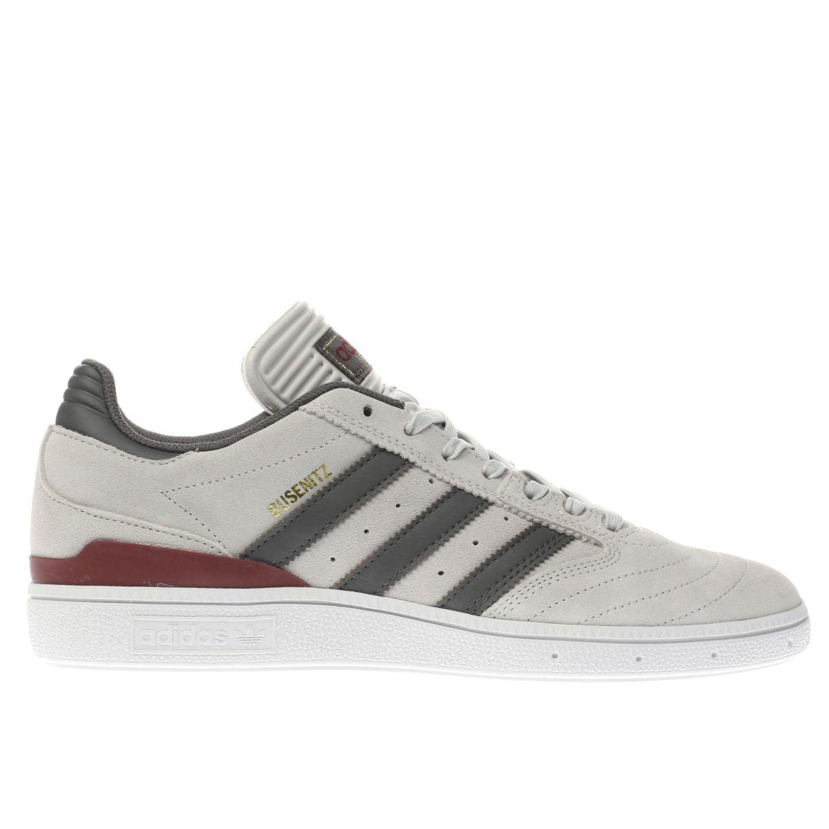 adidas light grey busenitz trainers