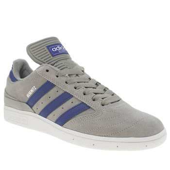 Mens Adidas Grey & Navy Busenitz Trainers
