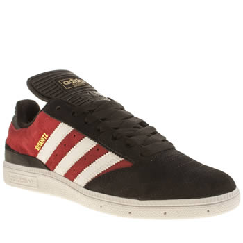 Adidas Black & Red Busenitz Trainers