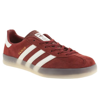 mens adidas red gazelle indoor trainers