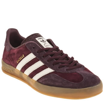Adidas Burgundy Gazelle Indoor Trainers