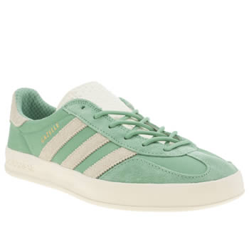 Mens Adidas Green Gazelle Indoor Trainers