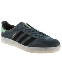 Navy & Green Adidas Gazelle Indoor