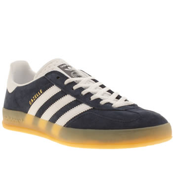 Mens Adidas Navy & White Gazelle Indoor Trainers