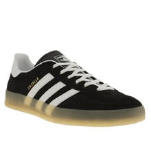 Black & White Adidas Gazelle Indoor