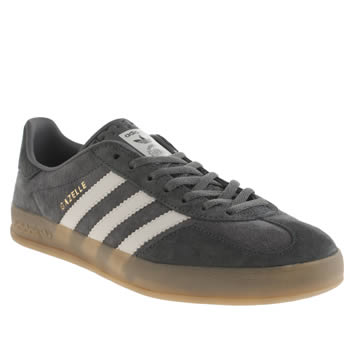 Adidas Dark Grey Gazelle Indoor Trainers