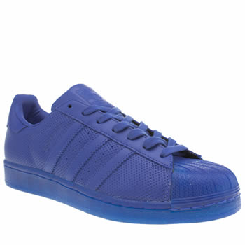 Mens Adidas Blue Adicolor Superstar So Icy Trainers