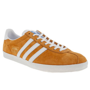 mens adidas orange gazelle og trainers