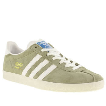 mens adidas green gazelle og trainers