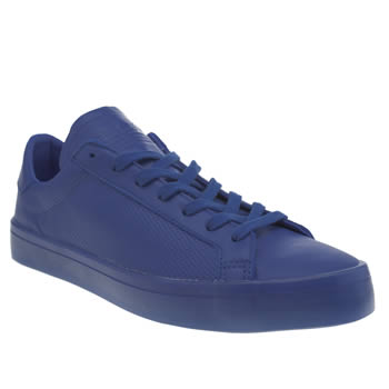 Mens Adidas Blue Adicolor Court Vantage Icy Trainers