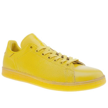 Mens Adidas Yellow Adicolor Stan Smith So Icy Trainers