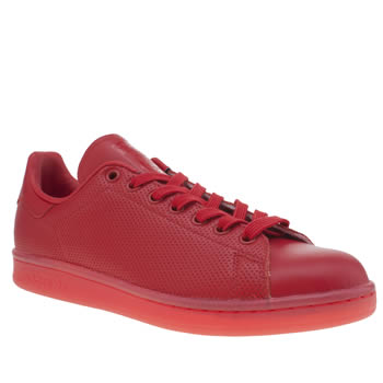 Mens Adidas Red Adicolor Stan Smith So Icy Trainers