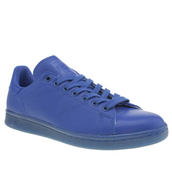 Mens Adidas Blue Adicolor Stan Smith So Icy Trainers
