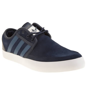 Adidas Navy Seeley Boat Trainers