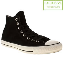 Black & White Converse All Star Suede Shearling Hi