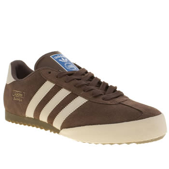 Mens Adidas Dark Brown Bamba Trainers